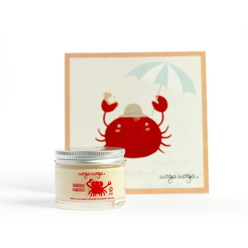 Crab in cool hat: Amestec bio de ulei protector, hranitor pentru copii   Uoga Uoga