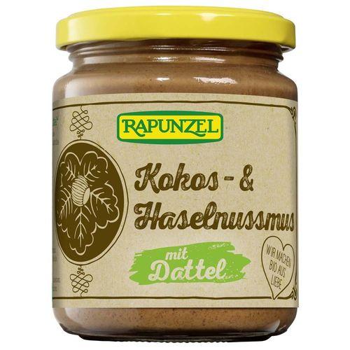 Cremă de Cocos, Alune și Curmale Fără Zahăr, 250g | Rapunzel