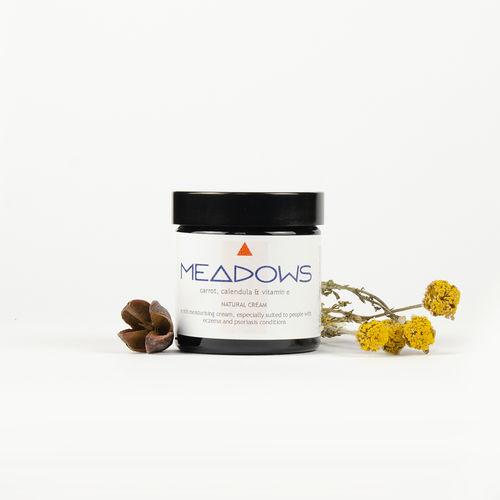 Cremă Hidratantă Naturală cu Ulei de Morcov, Gălbenele și Vitamina E, 60ml | Meadows Aroma