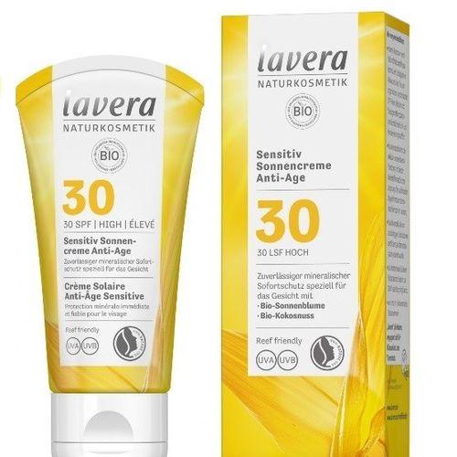 Cremă Bio Antirid Protecție Solară FPS 30, Piele Sensibilă, 50ml | Lavera