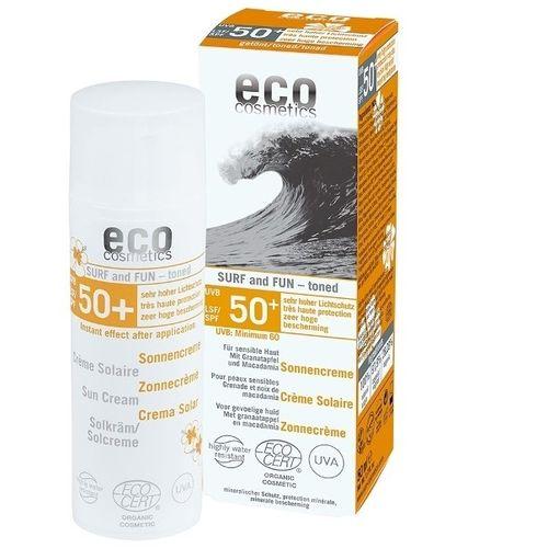 Cremă Bio cu Protecție Solară FPS50+ Extra-Rezistentă la apă - SURF & FUN, 50ml   Eco Cosmetics