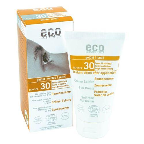 Cremă Bio Protecție Solară Înaltă FPS30 - Nuanțată, 75ml | Eco Cosmetics
