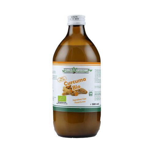 Suc de Curcuma 100% Pur, Bio, 500 ml | Health Nutrition