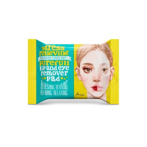 Dischete Demachiante Pentru Buze și Ochi, Ariul Stress Relieving Purefull Lip & Eye Remover Pad, 30 buc   Ariul