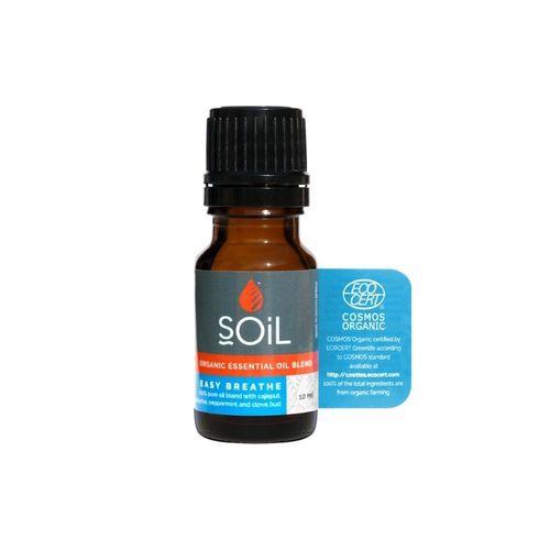 Amestec de Uleiuri Esențiale Easy Breathe Pure 100% Organice ECOCERT 10 ml | SOiL