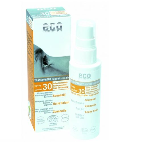 Ulei de Plajă Bio Pentru Față și Corp cu Protecție Solară Înaltă FPS30, 50ml | Eco Cosmetics