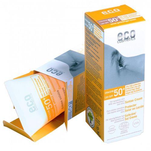 Cremă Bio cu Protecție Solară Înaltă FPS50+ - Nuanțată, 75ml | Eco Cosmetics