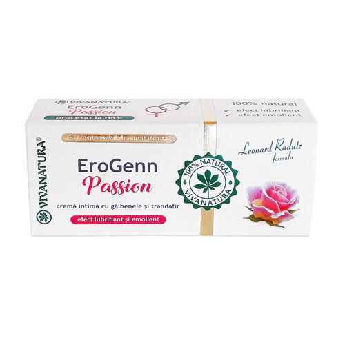 EroGenn Passion - Cremă Intimă cu Gălbenele și Trandafir, 20ml | Vivanatura