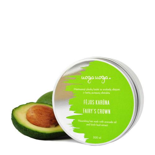 Fairy's crown: Masca de par hranitoare cu ulei de avocado si extract de muguri de mesteacan | Uoga Uoga