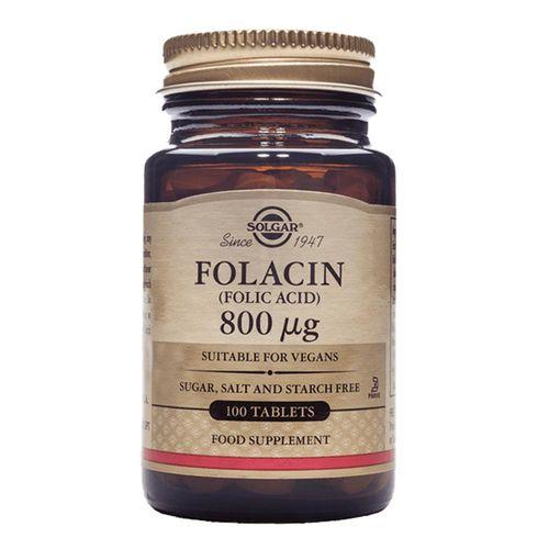 Folacin (Acid folic) 800mcg, 100 tablete   Solgar
