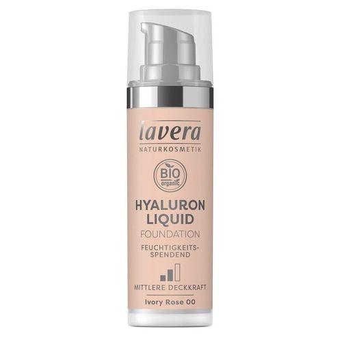 Fond de Ten Bio - Hyaluron Liquid Ivory Rose 00, 30ml | Lavera
