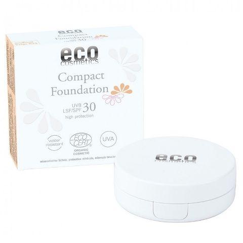 Fond de Ten Compact cu Protecție Solară FPS30 - Medium Beige, 10g | Eco Cosmetics