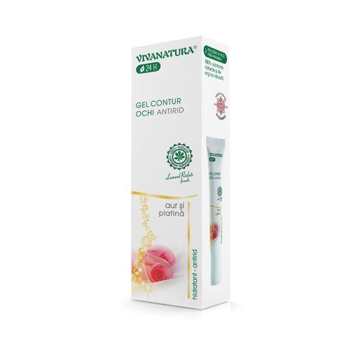 Serum-Gel Contur Ochi Antirid, Anticearcăn, 15ml | Vivanatura