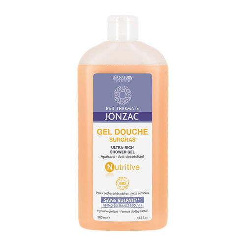 Nutritive Gel de Duș Emolient, 500ml | Eau Thermale Jonzac