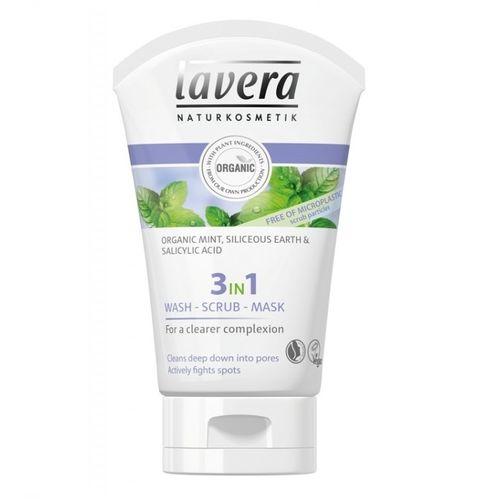Gel de Curățare Scrub și Mască 3în1 - Purificator & Antiacnee, 125ml   Lavera