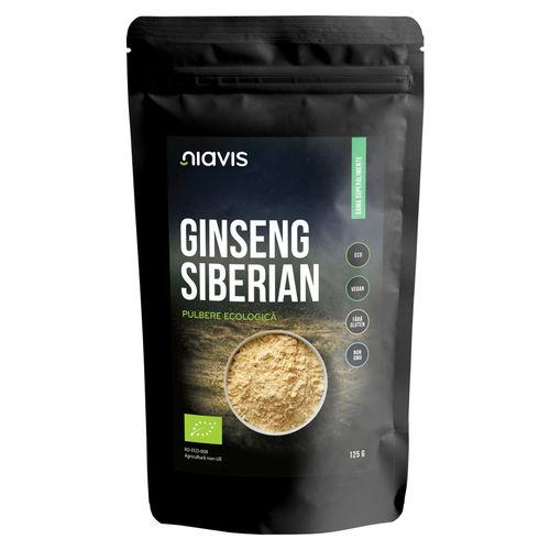 Ginseng Siberian Pulbere Ecologică/Bio 125g | Niavis