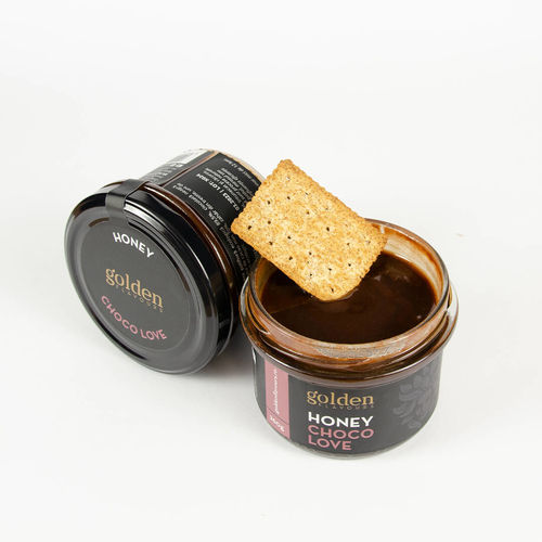 Miere bio cu ciocolată CHOCO LOVE, 260g | Golden Flavours
