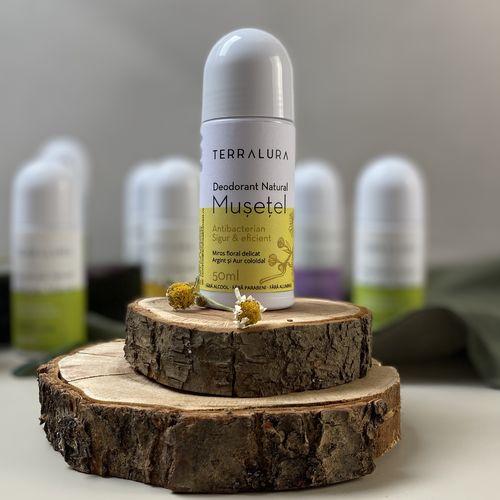 Deodorant Roll-on Natural Mușețel, 50ml | Terralura
