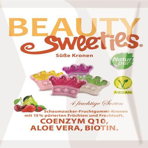 Jeleuri gumate moi cu piure și suc din fructe Coroane, 125g | Beauty Sweeties