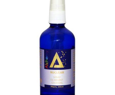 Loțiune pentru îngrijirea pielii, spray cu argint coloidal 80ppm, Nuclear | Pure Alchemy