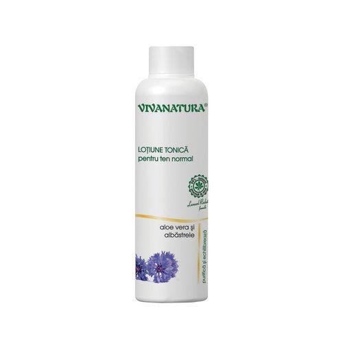Loțiune Tonică cu Aloe Vera şi Albăstrele Pentru Ten Normal, 150ml | Vivanatura