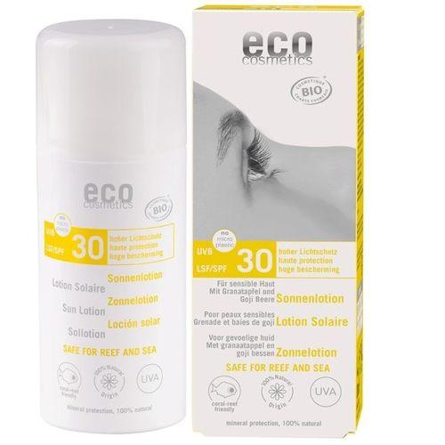 Loțiune Fluidă de Protecție Solară FPS30 cu Goji și Rodie, 100ml | Eco Cosmetics