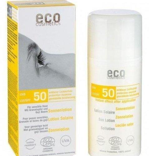 Loțiune Fluidă de Protecție Solară FPS50 cu Goji și Rodie, 100ml   Eco Cosmetics
