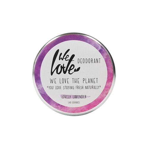 Deodorant Natural Cremă - Lovely Lavender - Cutie Metalică, 48g   We Love The Planet