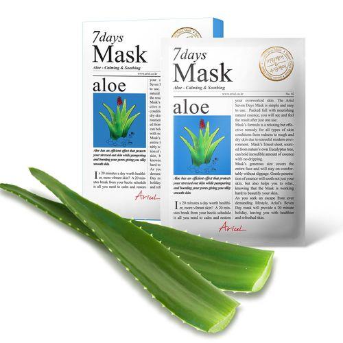 Mască Șervețel 7Days Mask Aloe Vera, Calmare și împrospătare, 20g   Ariul