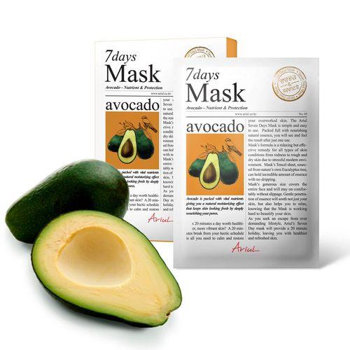 Mască Șervețel 7Days Mask Avocado, Hrănire și Reparare, 20g | Ariul