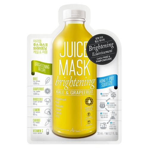 Mască Șervețel Juice Mask Varză Kale și Grapefruit, Luminozitate și Purificare 20g | Ariul