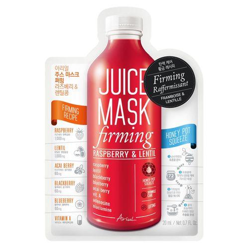 Mască Șervețel Juice Mask Zmeură și Linte, Controlul Ridurilor și Lifting, 20g   Ariul
