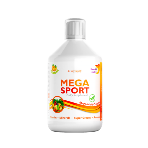 MEGA SPORT – Complex Lichid cu 147 Ingrediente Active, 500 ml | Swedish Nutra