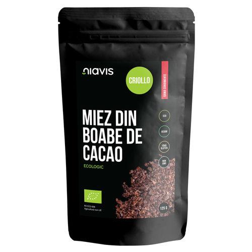 Miez din Boabe de Cacao Criollo Ecologic/Bio 125g Niavis