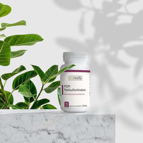 MSM Metilsulfonilmetan 550mg Bioroots 90 capsule vegetale (49,5g)