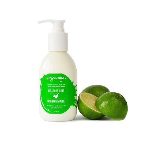 Morning Mojito: Lotiune hidratanta pentru corp bio, vegana cu uleiuri de lime si menta pentru toate tipurile de piele   Uoga Uoga