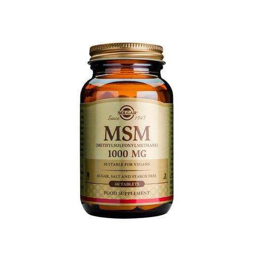 MSM (Metilsulfonilmetan) 1000mg, 60 tablete   Solgar