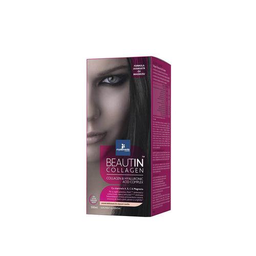 Beautin™ Collagen Lichid cu Căpşuni, Vanilie + Magneziu 500ml | Myelements