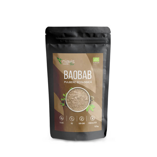 Baobab Pulbere Ecologică/Bio 125g | Niavis