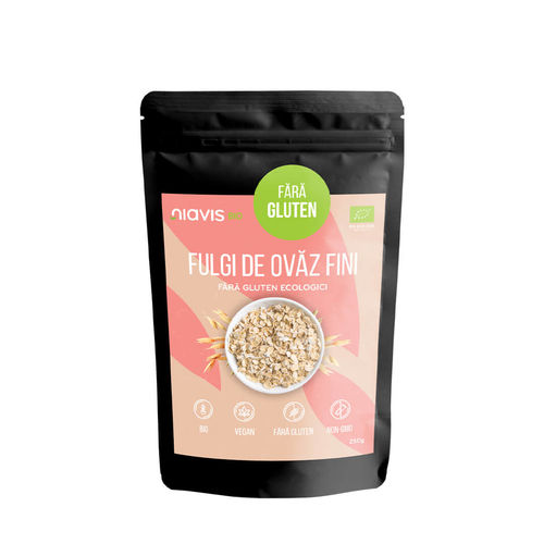Fulgi de Ovăz Ecologici Fini fără Gluten 250g | Niavis