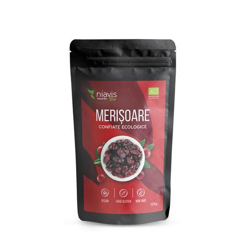 Merişoare Ecologice/Bio îndulcite cu suc de mere 125g | Niavis