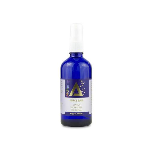 Loțiune pentru îngrijirea pielii, spray cu argint coloidal 80ppm, Nuclear   Pure Alchemy