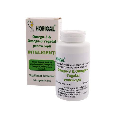 Omega-3 Și Omega-6 Vegetal pentru Copii Inteligenți, 60cps | Hofigal