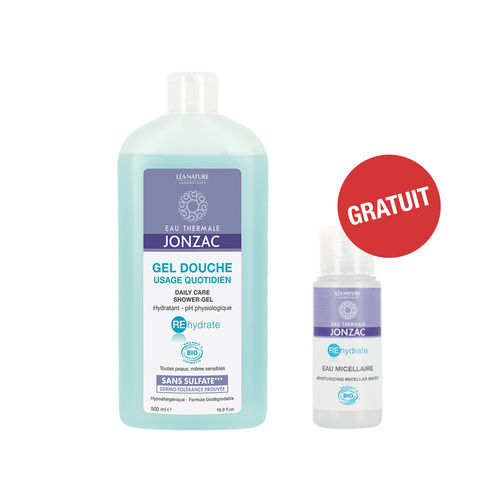 Pachet REhydrate Gel de Duș pentru Uz Cotidian + Apă micelară hidratantă MINI GRATIS | Eau Thermale Jonzac