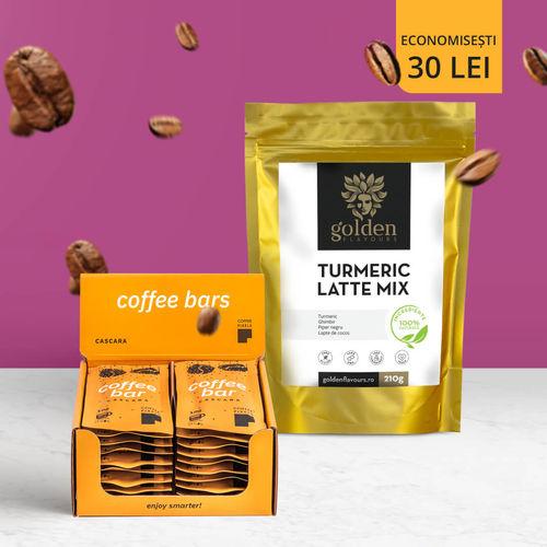 Pachet POWER PLUS Coffee Pixels Cascara 20 buc + Turmeric Latte Mix 210g