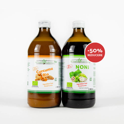 Pachet Promo Suc de Curcuma Bio 500ml + Suc de Noni Bio 500ml | Health Nutrition