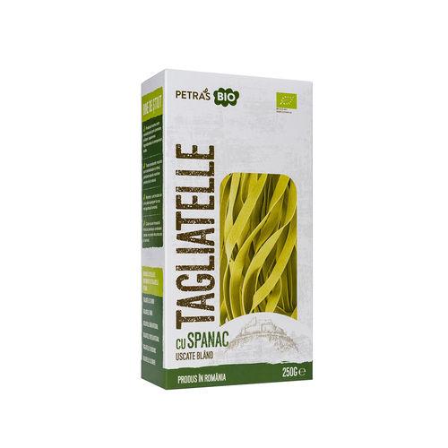 Tagliatelle ecologice cu spanac 250g | Petras Bio