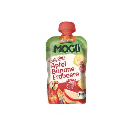 Piure eco/bio de mere, banane şi căpşuni 100g | Mogli