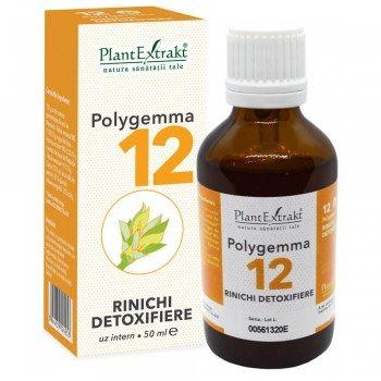 POLYGEMMA Nr.12 (Rinichi - Detoxifiere), 50ml | Plantextrakt