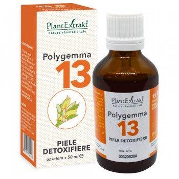 POLYGEMMA Nr.13 (Piele - Detoxifiere), 50ml | Plantextrakt